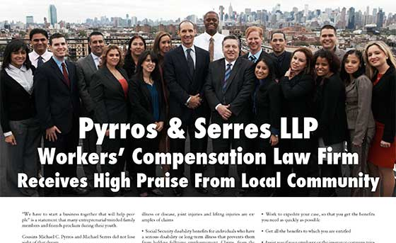 Pyrros & Serres LLP - Workers Compensation Law Firm - High Community Praise