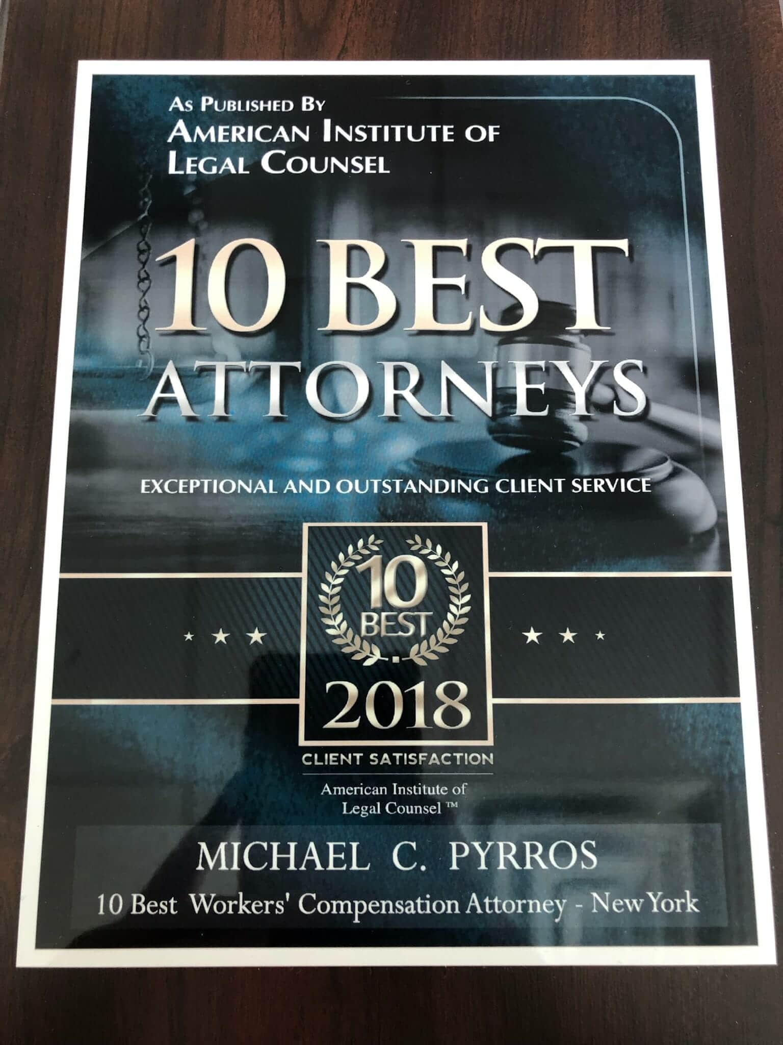 10 Best Woekers Compensation Attorney-New York
